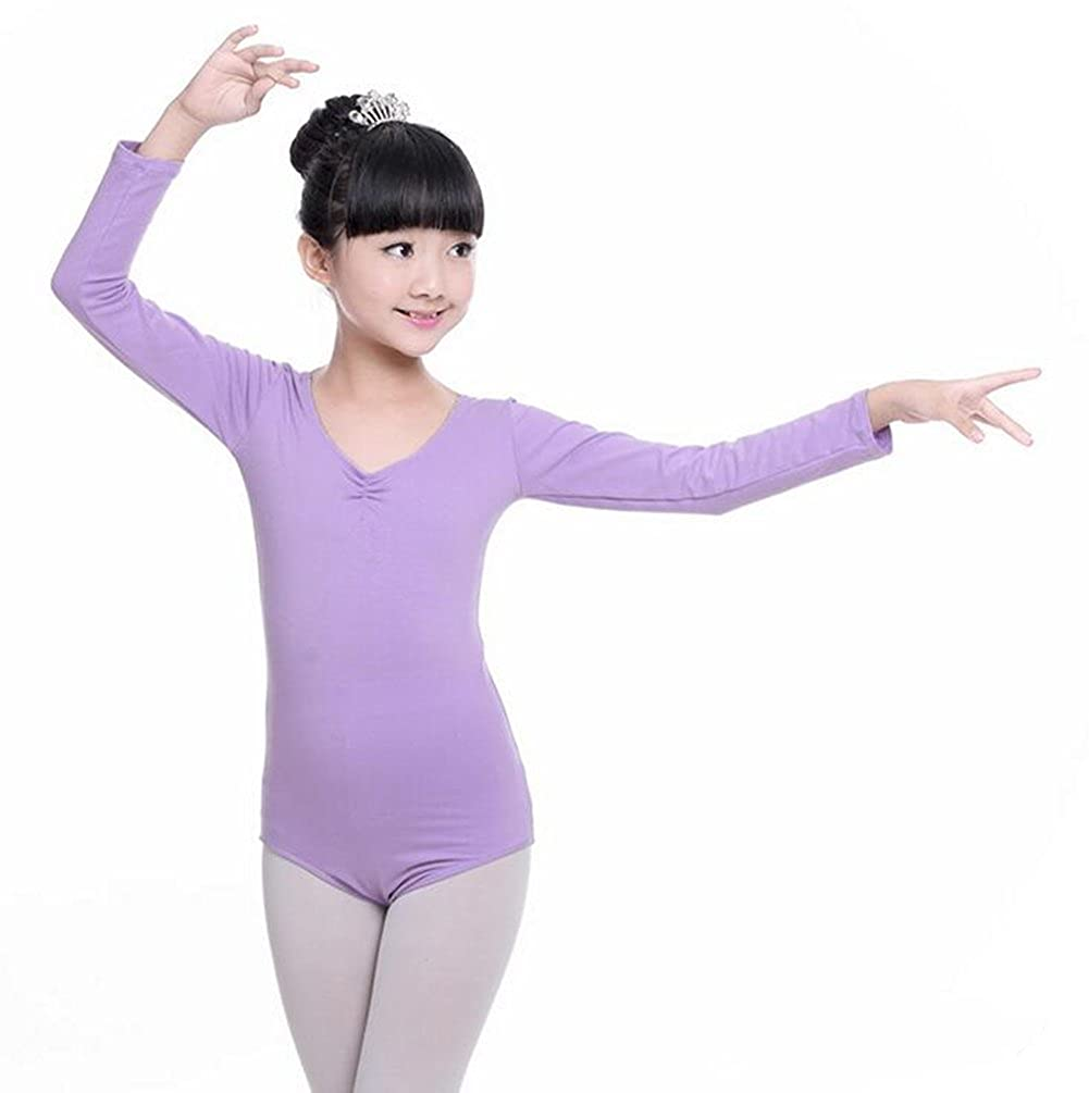 ZYZF Girls Kids Leotard Long Short Sleeve Gymnastic Dancewear Ballet Lycra Unitards 20161004298