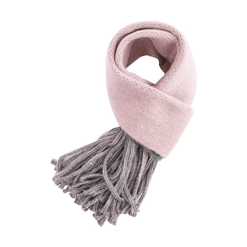 Zedtom, sciarpa per bambine, Candy colours, sciarpa alla moda e calda (140cm 40cm) blu Blue 140cm*40cm