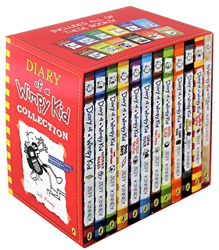 Diary Of A Wimpy Kid 12 Books Complete Collection Set New Diary Of A Wimpy Kid Rodrick Rules The Last Straw Dog Days The Ugly Truth Cabin Fever The Third Wheel Hard Luck The Long Haul Old School Etc Jeff Kinney