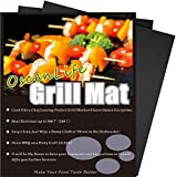 Professional Grill Mat of OscenLife - Set of 2 Non-Stick BBQ Grilling Mats - Heavy Duty, Reusable and Easy to Clean of Grill Accessories (13 x 16inch)