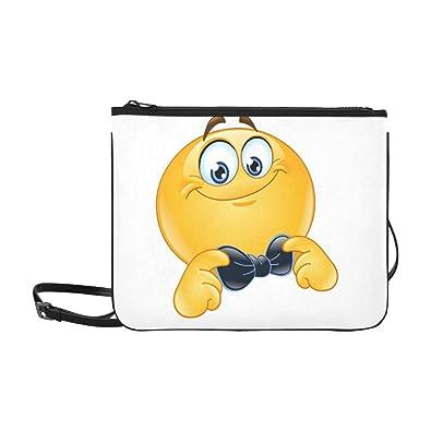 Amazon.com: Emoji Smiley Emoticon con lazo patrón ...