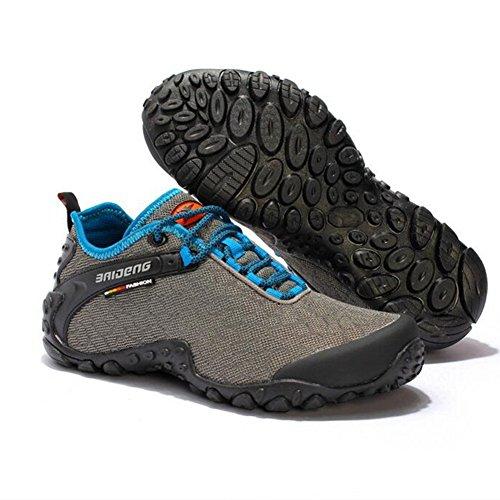 Showlovein Herren Trekking Wanderhalbschuhe Ourdoor Sportschuhe Atmungsaktiv Laufschuhe Grau