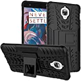 Wow Imagine Shockproof Hard Pc + Tpu With Kick Stand Rugged Back Case For Oneplus 3 / Oneplus 3T - Black