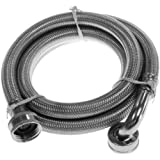 Aviditi 30530AVI 3/4-Inch FHT by 48-Inch Stainless Steel Braided Large Wash Machine Hose with Elbow
