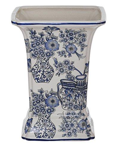 Winward Designs Porcelain Garden Square Vase, 12.5-Inch, ...