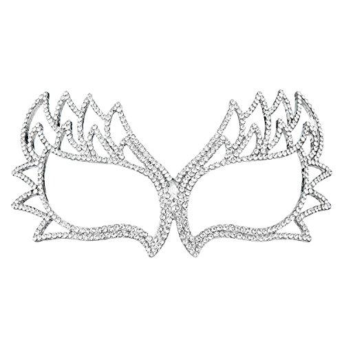 Bridal Mask (Miallo Bridal Full Rhinestone Crystal Fancy Masquerade Eye Mask for Halloween (Style2#))
