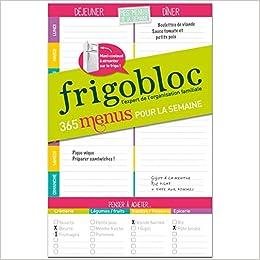 Amazon Fr Frigobloc Mes Menus De La Semaine Un Bloc Maxi