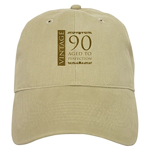 2244ad66fd683 CafePress - Fancy Vintage 90Th Birthday - Baseball Cap with Adjustable  Closure