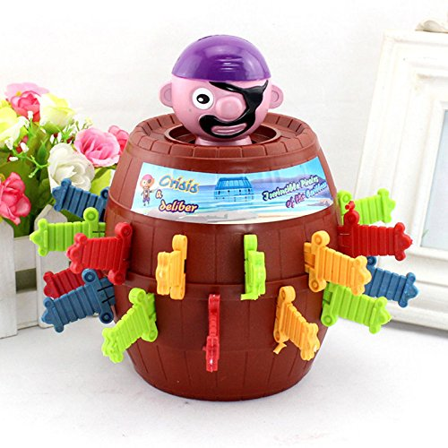 teambuckle Pirate Barrel Game Toy New Kids Funny Lucky Stab PopUp Toy Gadget (Kids Hobbit Feet)