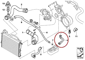 amazon com genuine bmw e39 540i e38 740i 740il automatic genuine bmw e39 540i e38 740i 740il automatic transmission fluid cooler hose for vehicles manufactured after