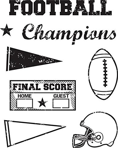 KAREN FOSTER Design Scrapbooking Clear Stamps, Football, 12 x 12