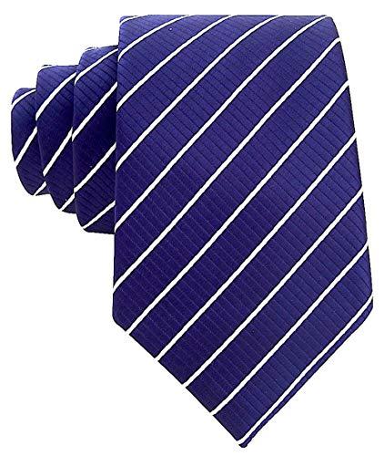 Neckties By Scott Allan - Navy Blue & White Striped Mens ()