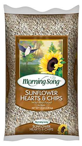 Sunflower Hearts Chips (Morning Song 11979 Sunflower Hearts and Chips Wild Bird Food, 5.5-Pound)