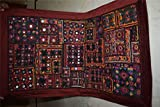 India Wall Hanging Beaded Vintage Sari Patchwork Tapestry Throw 129