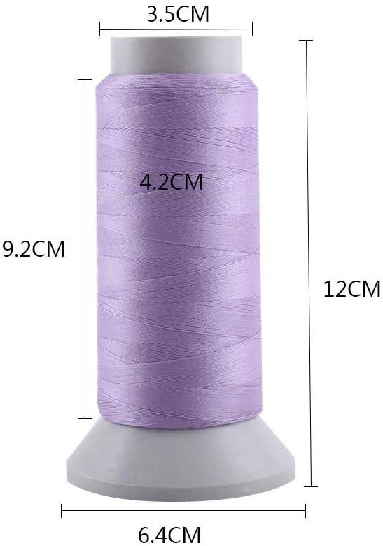 1000 Yards-rose Fil /à Coudre Lumineux /à Coudre de Broderie Sombre pour le Cuir Artisanat Bricolage DIY
