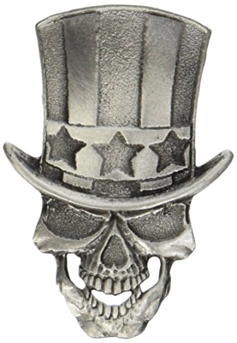 (Hot Leathers Uncle Sam Skull Pin)