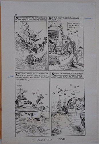 KIRNER original art, WORLD AROUND US #12 pg 36,14x 21,1959,Coast Guard, MatchBox