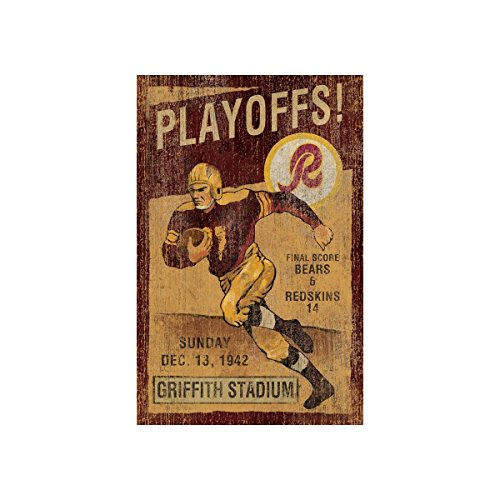 Imperial Officially Licensed NFL Furniture: Vintage Wall Art, Washingon Redskins ()