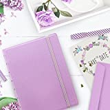 "FILOFAX Refillable Pastel Notebook, A5 (8.25"" x 5"") Orchid - 112 Cream moveable pages - Index, pocket and page marker"