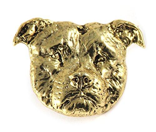 - Creative Pewter Designs American Bulldog Dog 22k Gold Plated Lapel Pin, Brooch, Jewelry, DG006