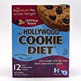 Hollywood Cookie Diet Meal Replacement Cookies, Oatmeal Raisin, 16.93oz (12 pack)