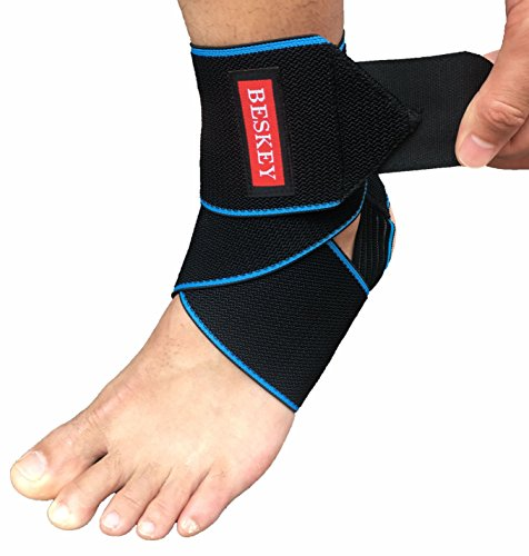 1d8c4fa7c6 Beskey Ankle Brace, Adjustable Ankle Support Breathable Nylon Material Super  Elastic and Comfortable One Size