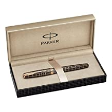 Parker Sonnet Rubber Lacquer Fine Point Fine Writing Rollerball Pen, Brown (1859483)