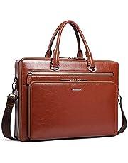 BOSTANTEN Herren/Damen Leder Aktentasche Laptoptasche Männer Businesstasche Umhängetasche Schultertaschen