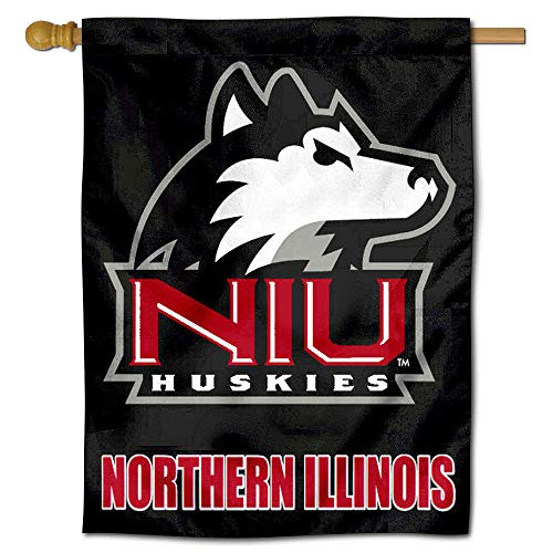 College Flags and Banners Co. NIU Northern Illinois University Huskies House Flag