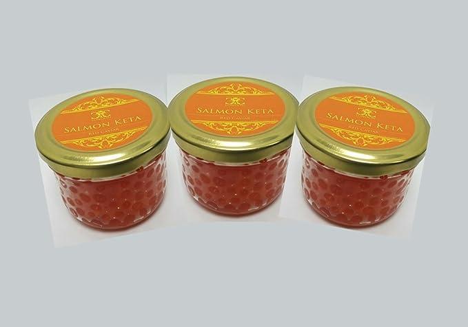 Caviar de salmón (keta) Entrega Express 5-10