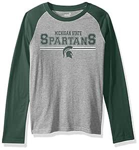 "NCAA Kansas State Wildcats Boys 4-7""Field Line"" Long Sleeve Tee, Small (4), Heather Grey"