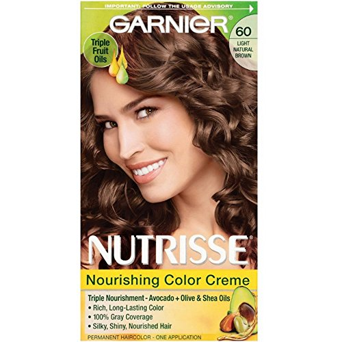 Garnier Nutrisse Nourishing Color Creme Light Natural Brown [60] 1 ea (Pack of 3)