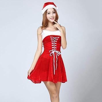 Shisky Disfraz de Navidad Adulto, Correa de Traje Rojo ...
