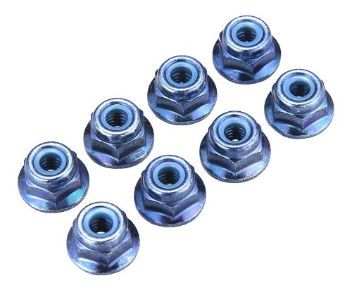 Kyosho 4x5.6mm Steel Flanged Locknut (Blue) (8)