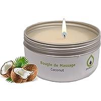 Vela de masaje COCO, 100 % vegetal, sin