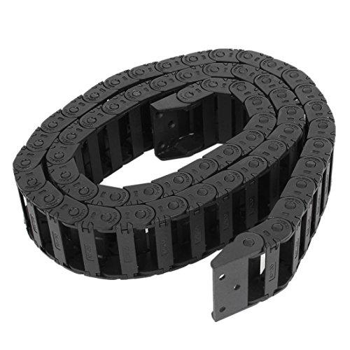 Ochoos Hot 100 cm R3.5cm Plastic Open Type Wire Energy Chain Drag Chain 10mm x 30mm