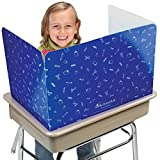 Really Good Stuff Privacy Shields for Student's Desks – Keeps Their Eyes on Their Own Test/Assignments (High Gloss (12 Shields), Blue)