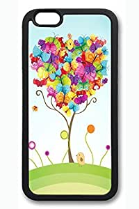 Colorful Butterfly Slim Soft Cover Case For Samsung Note 4 Cover PC Black Cases
