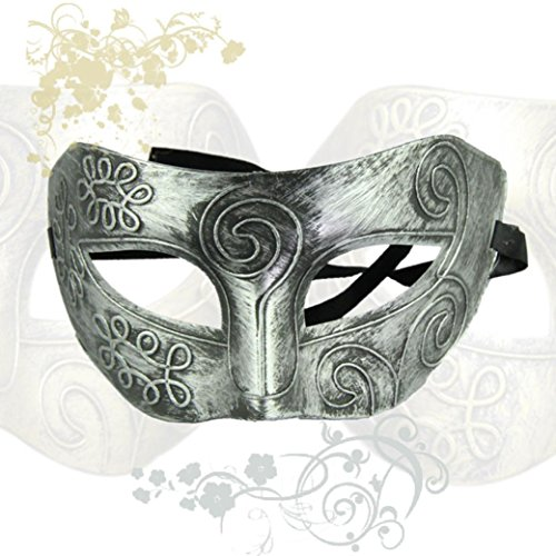 [Bigban 1 PC Retro Roman Gladiator Halloween Party Facial Masquerade Mask (Silver)] (The Joker Masquerade Costume)