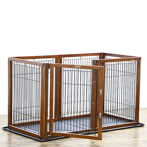 Folding metal dog crate,Pet cages Fences Dog cage Small and medium-sized dogs dog houses Dog crate tray pet kennel large open kennel indoor Outdoor dog crate pad-B