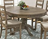 Cheap Round to Oval Dining Table in Brown