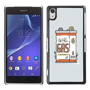 Be Good Phone Accessory // Dura Cáscara cubierta Protectora Caso Carcasa Funda de Protección para Sony Xperia Z2 D6502 D6503 D6543 L50t L50u // Funny Vintage Retro Gas