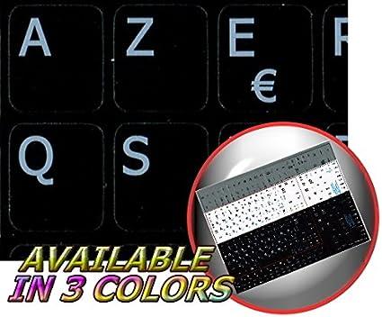 English Keyboard Stickers White Background for Mini LAPTOPS Netbook French Belgian