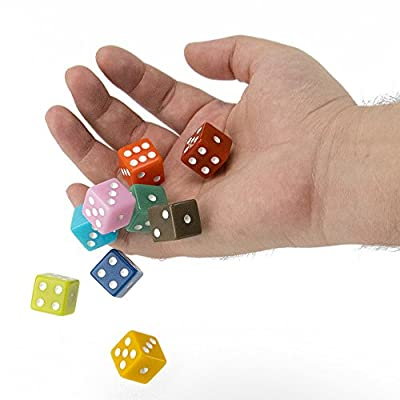 50-Pack Solid 6-Sided Game Dice, 10 Sets of Vintage Colors, 16mm Dice for Board Games and Teaching Math by Brybelly: Toys & Games