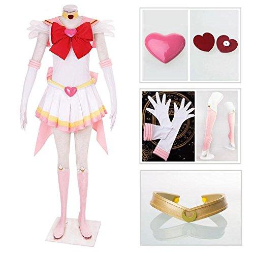 [Dazcos Sailor Moon Super S Chibi Moon Fighting Cosplay Costume (Women S)] (Chibi Halloween Costume)