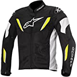 Alpinestars T-GP R Air Textile Men's Riding Jacket (Black/White/Yellow, Medium)