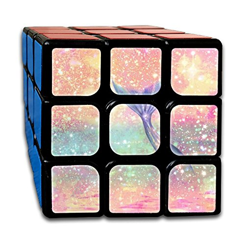 Glitter Pink Mermaid 3x3 Smooth Speed Magic Rubiks Cube Magic Cube Puzzles Puzzles Toys