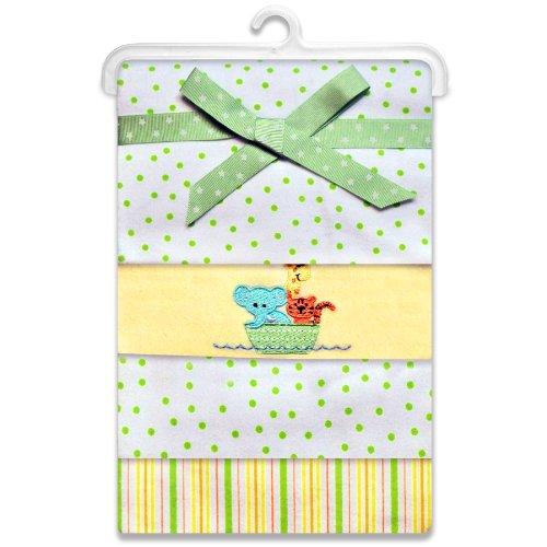 Spasilk-Unisex-Baby-4-Pack-100-Cotton-Flannel-Receiving-Blanket