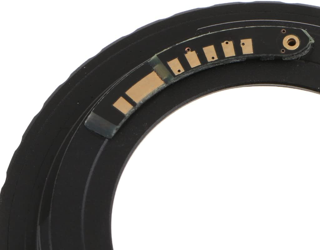 Confirmer pour AF III B Baosity Adaptateur pour Bague De Montage De Lentilles M42 /à EOS EF Noir