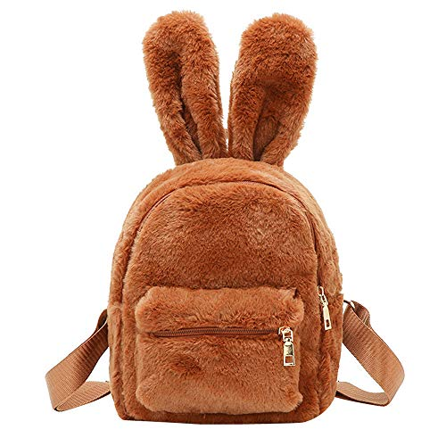 Bag Bags Shoulder Tote Travel Backpack Bags Plush Brown Women Ears School Fashion Girl WILLTOO SWvwZqaTn